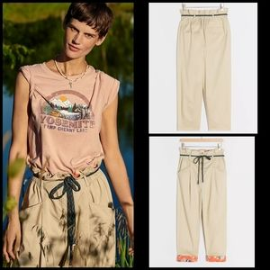 🆕 Anthropologie cropped paperbag pants S/M Petite